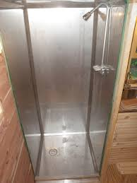 shower stall complete now time hook up plumbing u2026 built