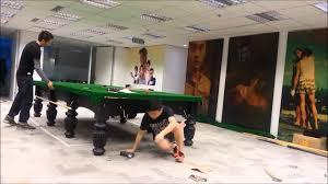 full size snooker table full size snooker table installation by hong kong youtube