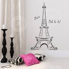 Eiffel Tower Wall Decals Amazon Com Eiffel Tower Ooh La La Paris Vinyl Wall Decal Sticker