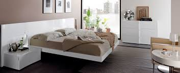 Modern White Bed Frames Endearing Modern White Bedroom Decoration Using Floating Modern