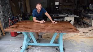 making a trestle table how to build a farmhouse table trestle style x frame diy youtube