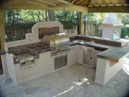 kitchen awesome outdoor kitchen decoration with u shaped prefab