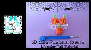 youtube halloween crafts craft life 3d mini pumpkin charm tutorial on a rainbow loom