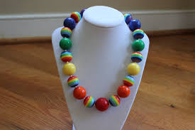 chunky beaded necklace images Rainbow bubblegum bead necklace birthday girls chunky bead jpg