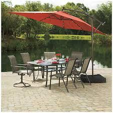 wilson and fisher solar lights wilson fisher solar offset 11 rectangular umbrella at big lots