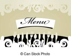 clipart vector of vector menu of restaurant card dinner design