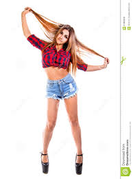 pretty young woman in a country style clothes stock photo image
