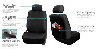 fh group universal fit full set deluxe seat cover leatherette