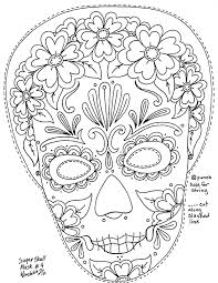 14 images of sugar skull woman coloring pages day of the dead