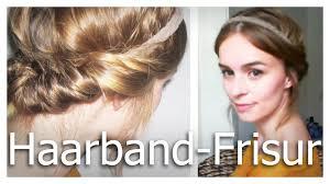 Frisuren Lange Haare Schnell by Haare Hochsteckfrisur Mit Haarband Leicht Und Schnell