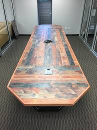 conference table power outlets rustic conference table klevr furniture