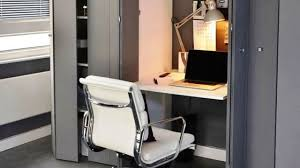 Smart Office Desk Concealed Office Desk Smart Small Space Ideas Youtube