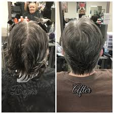 thinning hair in women on top of head women s haircut using shears 45 in nape into 90 all over the