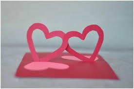 easy valentine u0027s day pop up card linked hearts tutorial