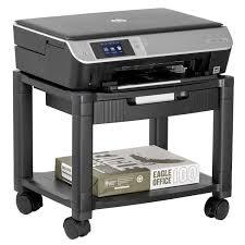 Under Desk Printer Stand Wood by Computer U0026 Machine Carts Shop Amazon Com