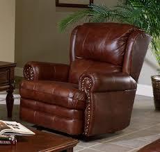 buckingham chestnut leather rocker recliner by catnapper 4110 2 c