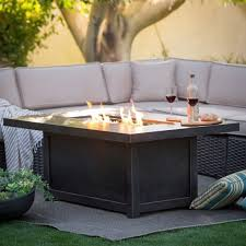 rectangle propane fire pit table genuine rectangle propane fire pit table ideas fumchomestead bjs