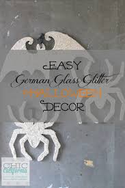 easy german glass glitter halloween decor chic california