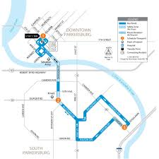 Wvu Parking Map Rayon Bus Route Parkersburg Wv Mid Ohio Valley Transit Authority