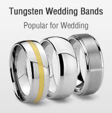 tungsten wedding ring tungsten rings wedding bands matching sets for every memorable