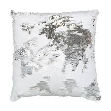 Sofa Covers Kmart Au by Sequin Cushion Silver Look U0026 White Kmart