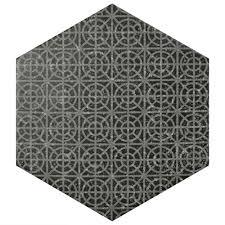 Best 10 Black Hexagon Tile by Merola Tile Coralstone Hexagon Melange Black 10 In X 11 1 2 In