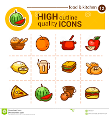 color food icons stock vector image of illustration 56638064