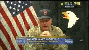 Army Thanksgiving Leave Major General James Mcconville On The Afghan Army C Span Org