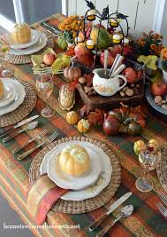 Fall Table Settings by A Casual Fall Centerpiece Home Is Where The Boat Is Table