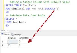 Tsql Alter Table Add Column Sql Server How To Add Multiple New Columns To Table With Default