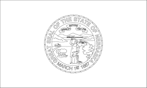 nj state flag coloring page