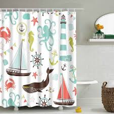 Sea Themed Shower Curtains Best Nautical Sea Shower Curtains The Mermaids Home