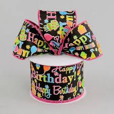 happy birthday ribbon 2 5 happy birthday ribbon black multicolor 10 yards rg1772rw
