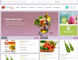 grocery store readymade online retail shopping website