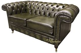 Chesterfield Chelsea  Seater Antique Green Leather Sofa Offer - Chelsea leather sofa 2