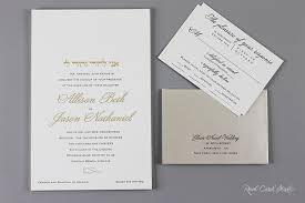 Jewish Wedding Invitations Real Card Studio Classic Country Club Wedding Invitations