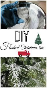 flocking christmas tree christmas lights decoration