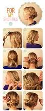hairstyles easy to do for medium length hair short hair updo tutorial hair pinterest hair updo tutorial