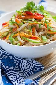 asian rice noodle salad u2014 the sunny palate