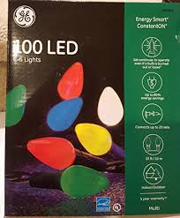 ge constant on christmas lights amazon com ge energy smart 100 count constant multicolor c6 led