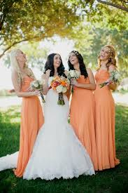 wedding bridesmaid dresses orange bridesmaid dresses naf dresses