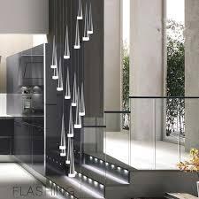 modern led conical pendant light aluminum u0026metal home industrial