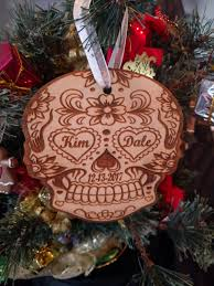 sugar skull christmas ornament personalized christmas