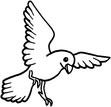 flying canary bird coloring pages place color