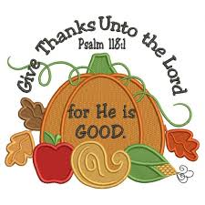 thanks unto the lord for he is thanksgiving pumpkin filled