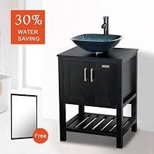 Bathroom Sink And Cabinet Combo Eclife 24 U0027 U0027 Modern Bathroom Vessel Sink And Vanity Combo Square