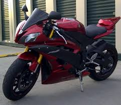 2007 yamaha r6 burgandy red 4400 kms