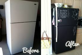 chalkboard appliance paint painting a fridge with chalk paint defendbigbird