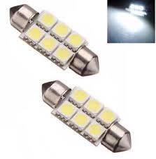 car dome light bulbs 2 x 24v white 6 smd led car interior festoon dome light bulbs number