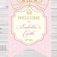baby shower sign royal princess welcome sign princess baby shower sign gold and